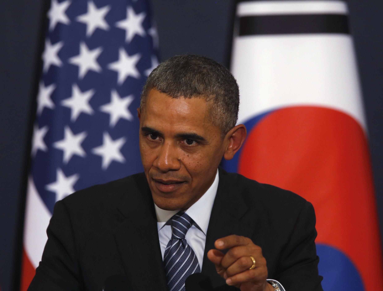 Rais wa Marekani Barack Obama akitangaza vikwazo dhidi ya viongozi 7 wa Urusi na mashirika 17 ya Urusi.