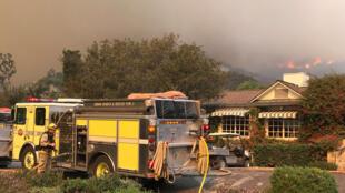 Un rancho en San Ysidro (California) muy cerca del incendio Thomas, 16 de diciembre 2017.