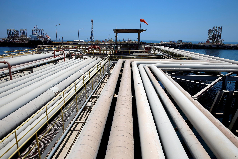 La raffinerie de pétrole de Ras Tanoura (Arabie saoudite).