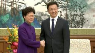 林鄭赴京見韓正 給港人帶回大棒胡蘿卜