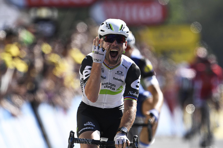 Mark Cavendish remporte la 14e étape du Tour de France samedi 16 juillet 2016.