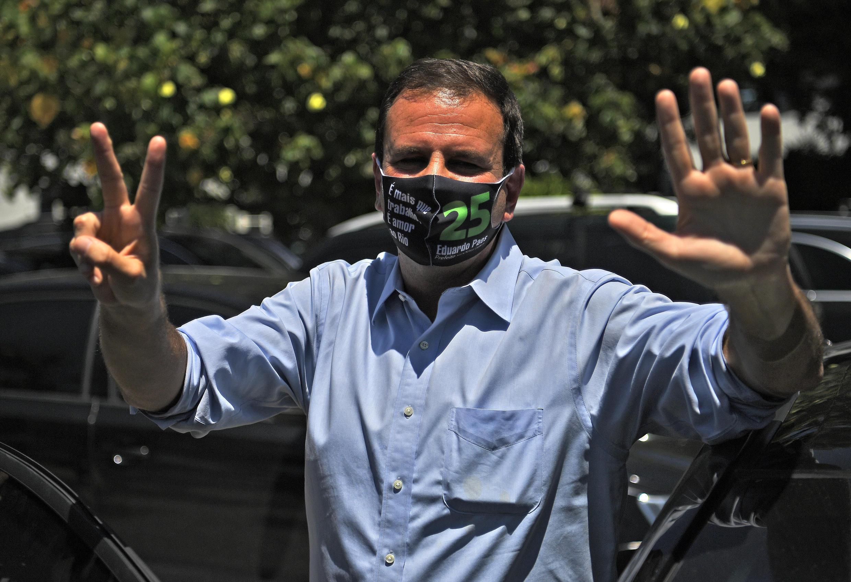 Le candidat de la gauche à Rio de Janeiro, Eduardo Paes.
