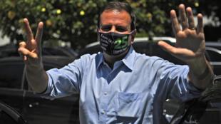 Le candidat du centre droit à Rio de Janeiro, Eduardo Paes, élu maire de la ville aux élections du 30 novembre 2020.