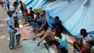 Des migrants africains dans la capitale yéménite Sanaa, en juin 2014 (Image illustration).