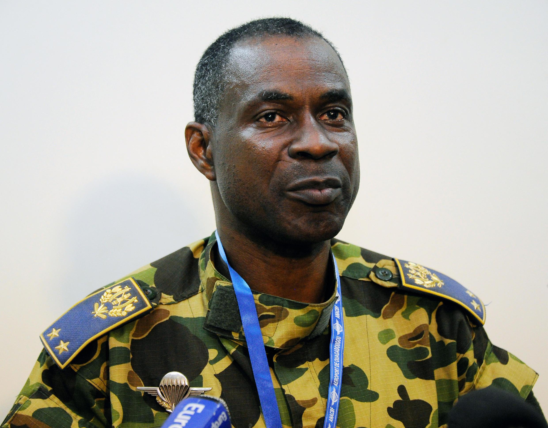 O general Gilbert Diendéré, em Uagadugu, em 25 de juilho de 2014.