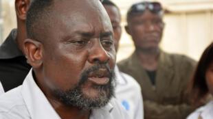 Franck Diongo le 12 janvier 2015 à Kinshasa, en RDC.