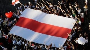 Minsk a été le théâtre d'une manifestation monstre de l'opposition au président Loulachenko, le 16 août 2020.