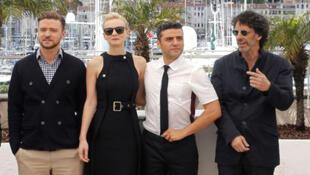 Justin Timberlake, Carey Mulligan, Oscar Isaac và đạo diễn Joel Coen tại liên hoan Cannes 2013