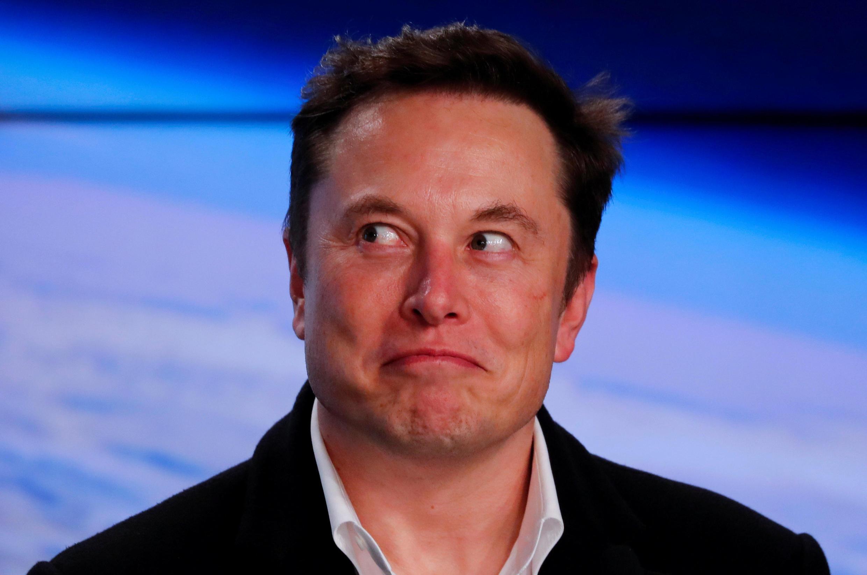 El fundador de SpaceX, Elon Musk, luego del despegue del Falcon 9, el 2 de marzo, 2019.