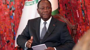 Le président ivoirien Alassane Ouattara, à Abidjan, le 7 juin 2016.