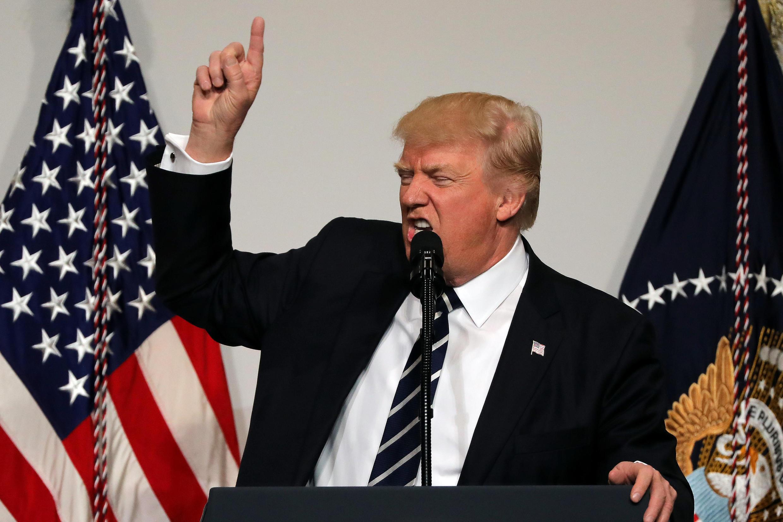 Tổng thống Mỹ Donald Trump phát biểu trước Ủy Ban Quốc Hội Quốc Gia đảng Cộng Hòa, Washington ngày 21/3/2017.