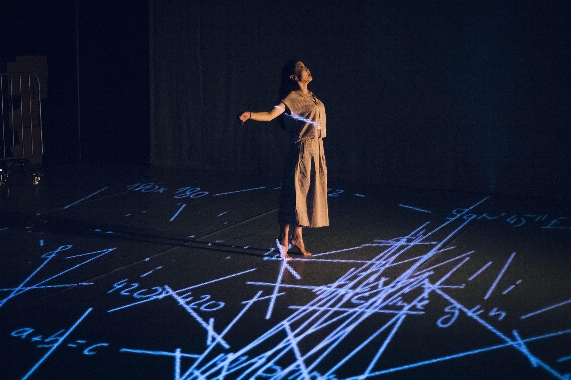 中國藝術家文慧作品《陌生人》劇照。