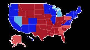美国2020年选举票流分布图