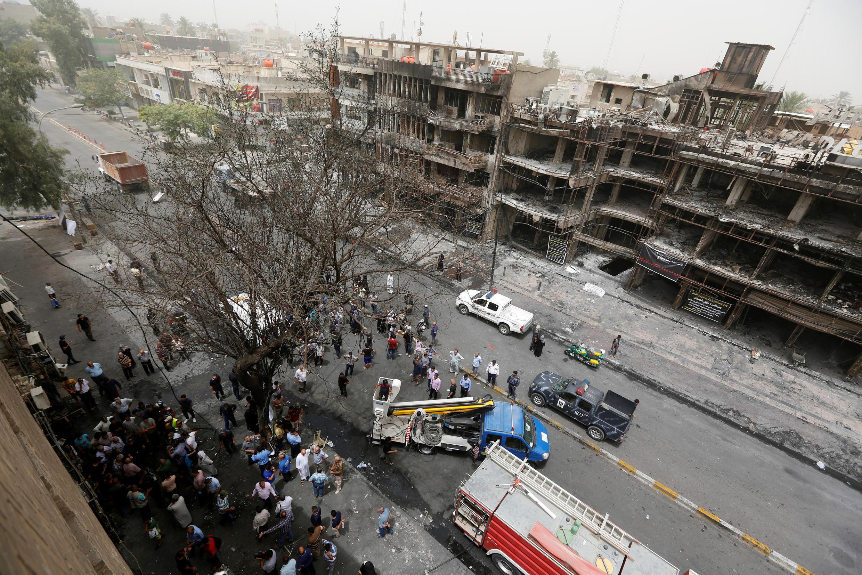 Торговый центр в Багдаде, где