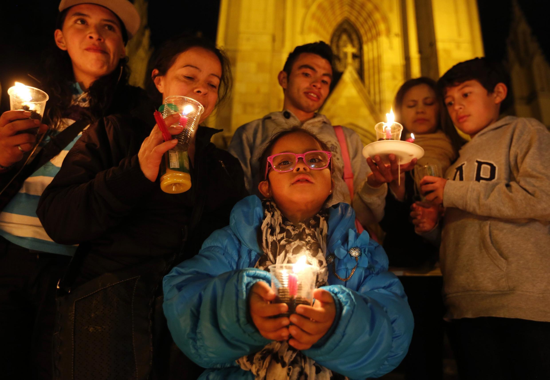 Celebración por la paz en Bogotá, 22 de mayo de 2014.