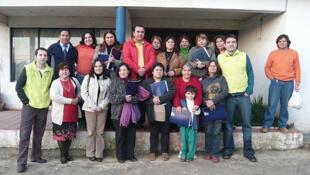 Seminario de capacitación para agentes del Banco del Tiempo en Quilpué, con Mauricio Dorfman a la izquierda.
