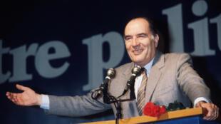 François Mitterrand lors de sa campagne de 1981.
