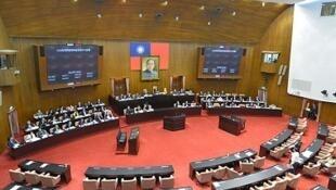 图为台湾立法院会场