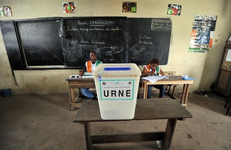 Dans la commune d'Abobo à Abidjan, lors des municipales et régionales. 2013.