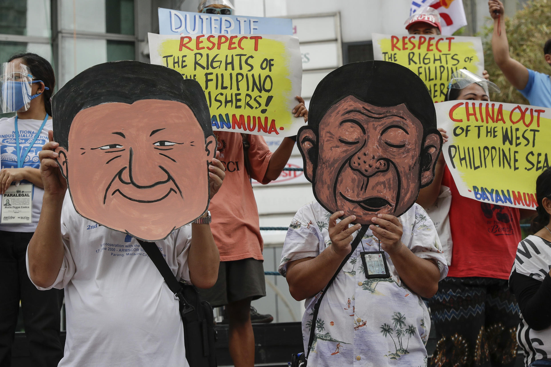 Philippines - Manille - Manifestation anti-chinoise AP21127303928944