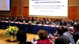 Tại Hội nghị năm 2009, các nhà tài trợ đã đồng ý giúp Việt Nam hơn 8 tỷ đô la cho năm 2010. Ảnh tư liệu (DR)