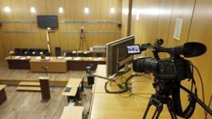 La salle d'audience où se déroule le procès de Pascal Simbikangwa, premier Rwandais jugé en France pour «complicité de génocide»