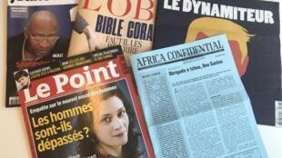 Capas de semanários sobre actualidade africana e mundial de 19/05/2018