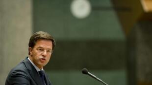 Le Premier ministre démissionnaire Mark Rutte, le 24 avril 2012.