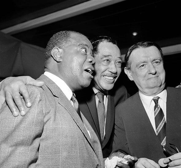 Louis Armstrong, Duke Ellington, và Georges Auric (Académie du Jazz - 1960).