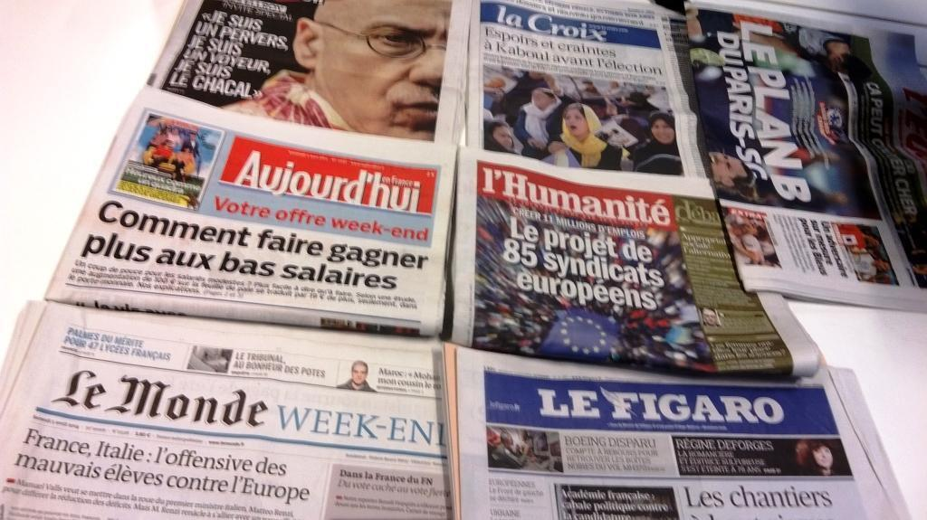 Diários franceses 04/04/2014