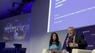 Des femmes d'affaires du monde entier sont réunies à Paris à l'occasion du Women's forum global meeting.