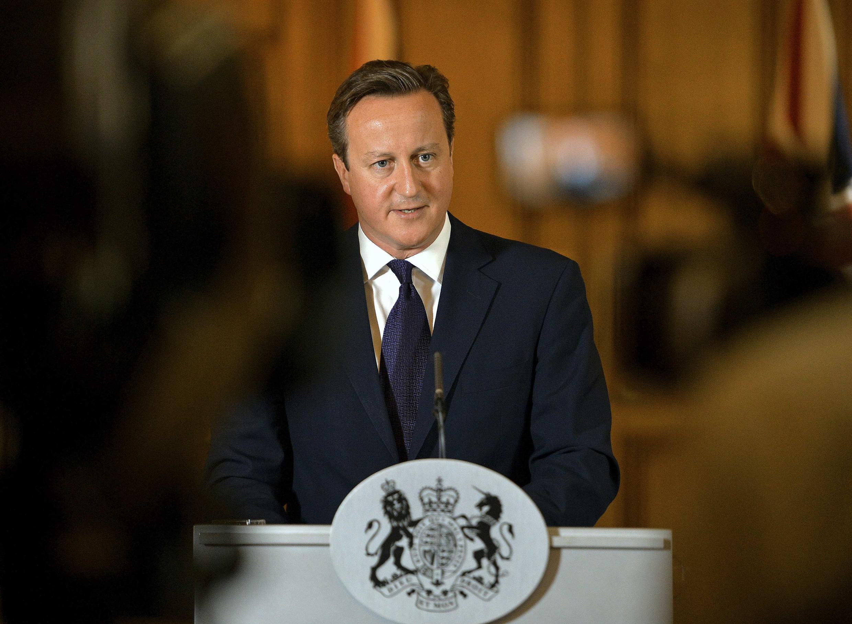 """David Cameron, primeiro-ministro britânico, qualificou a execução de David Haines de """"assassinato vil e repulsivo""""."""
