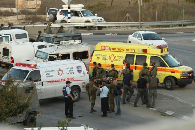 Serviços  de  urgência  de Israel   em Hebron. 01 de Novembro 2015