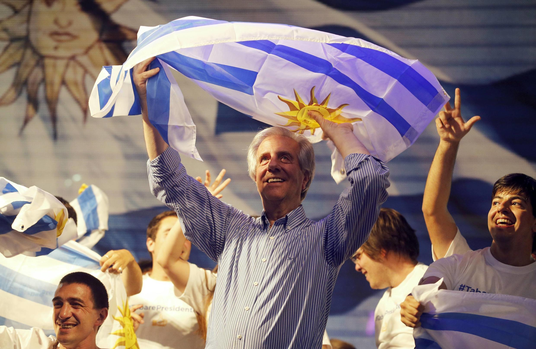 El exmandatario oficialista Tabaré Vázquez, el 26 de octubre de 2014 en Montevideo.