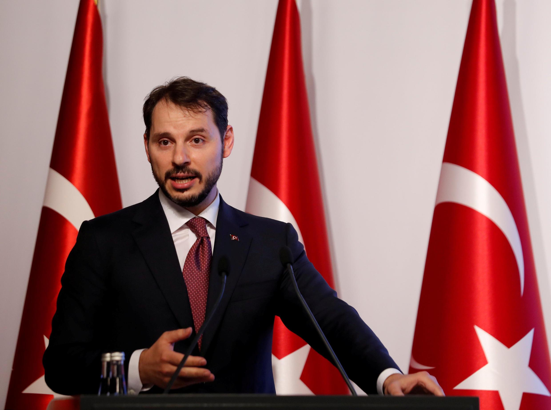 Le ministre turc des Finances Berat Albayrak, le 10 août 2018, à Istanbul.