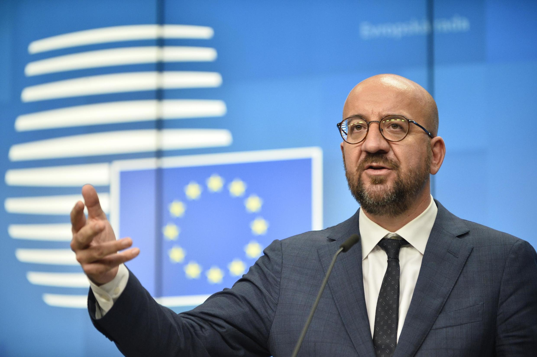 Rais wa Baraza la Umoja wa Ulaya Charles Michel katika mkutano wa EU huko Brussels, Oktoba 2, 2020.