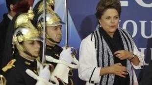 A presidente brasileira Dilma Rousseff durante a reunião de cúpula do G20, em novembro de 2011.