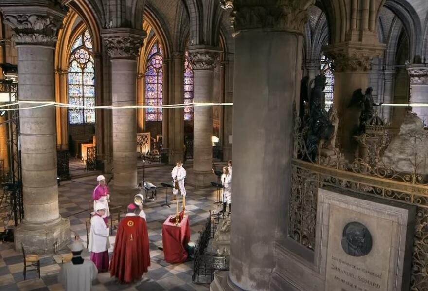 Notre Dame de Paris Good Friday Mass April 2020