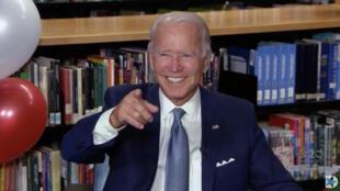 Joe Biden le 18 août 2020 après sa nomination officielle comme candidat démocrate à la présidentielle américaine de 2020.