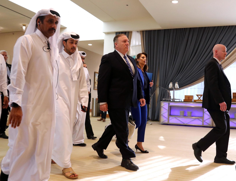 Ngoại trưởng Mỹ Mike Pompeo đến Doha, Qatar, ngày 29/02/2020, tham dự lễ ký kết một thỏa thuận giữa Washington và phe Taliban.