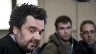 L'avocat d'Abou Siyad Al-Normandy, Me Thomas Klotz le 4 mars 2014 au Tribunal correctionnel de Paris.