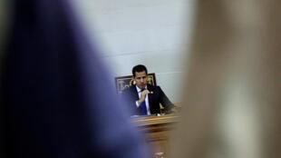 Juan Guaidó, lors d'une session à l'Assemblée nationale à Caracas, le 16 juillet 2019 (image d'illustration).