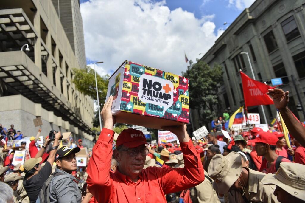 Devant le siège de la vice-présidence à Caracas le 21 septembre 2019.