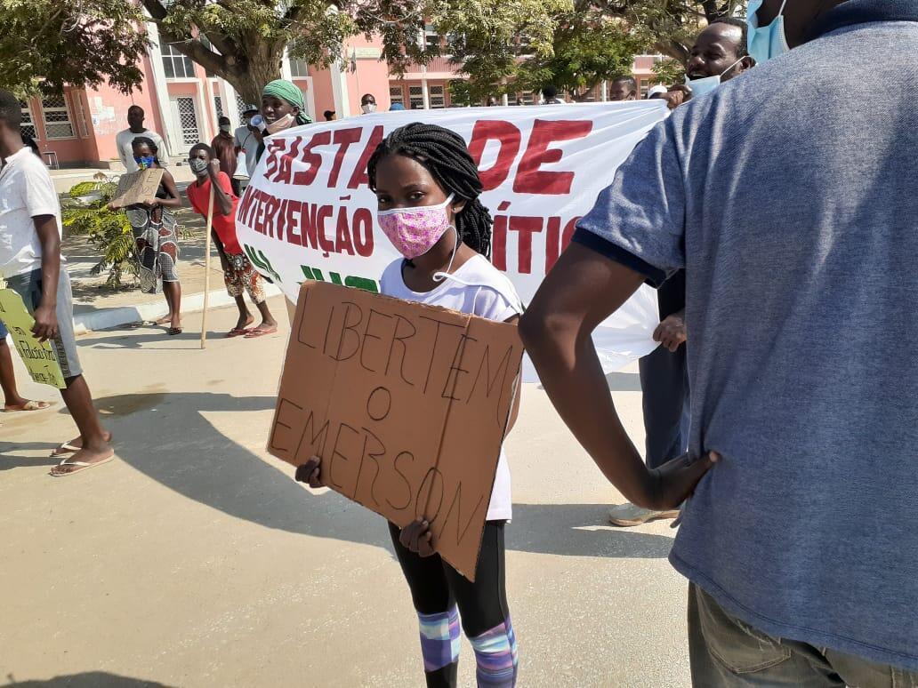 Manifestação de jovens em Benguela. 18/07/20