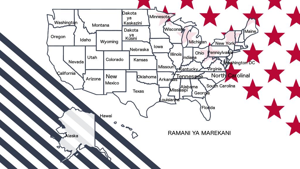 Ramani ya Marekani.