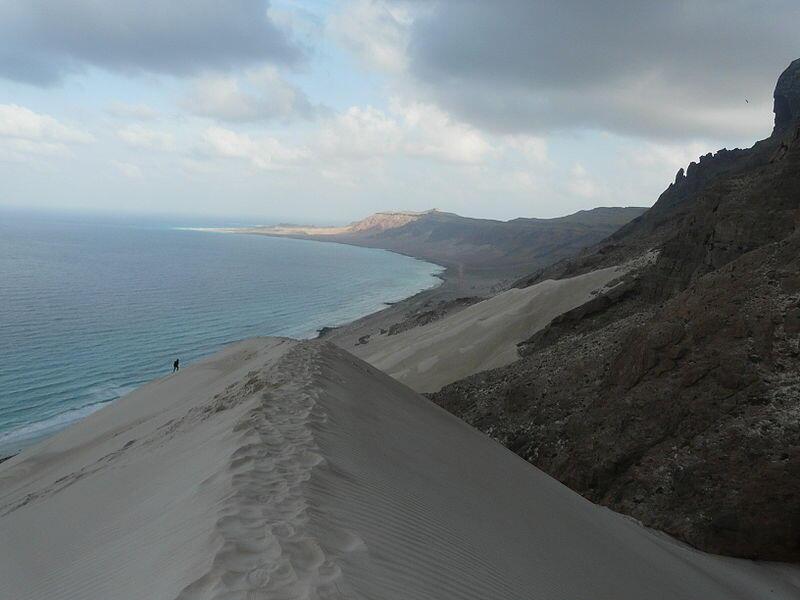 Littoral de Socotra dans l'Est de l'île.