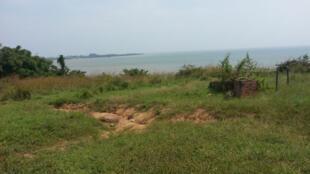 L'ancien embarcadère des esclaves sur la baie de Loango.