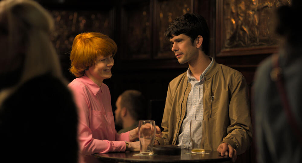 Cannes 2019 Best Actress award winner Emily Beecham and Ben Whishaw in Jessica Hausner's Little Joe, May 2019