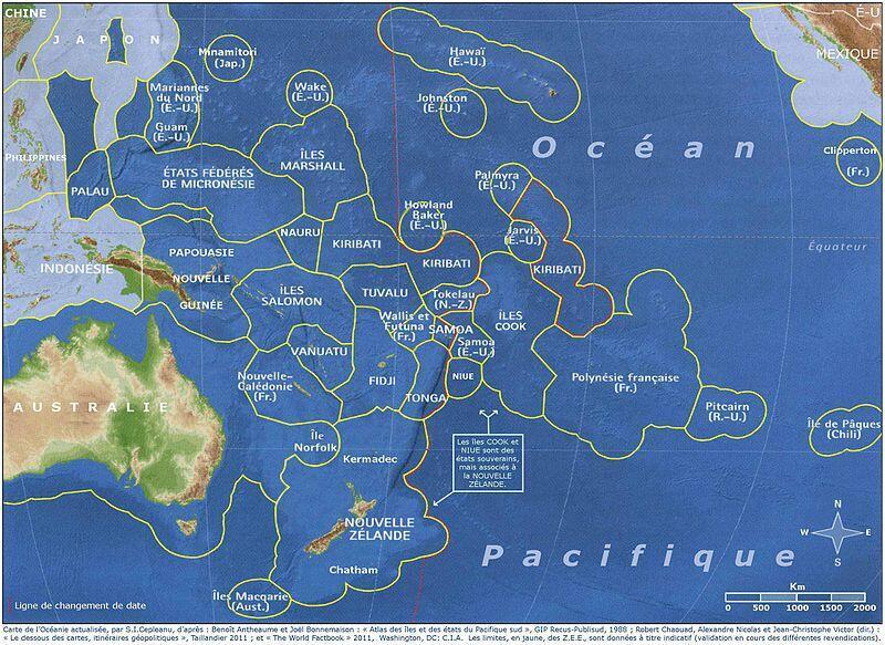 Các quốc đảo Thái Bình Dương và các vùng đặc quyền kinh tế
