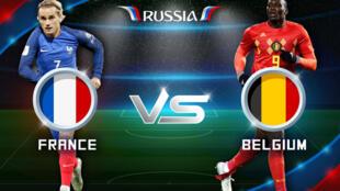 Francia contra Bélgica en San Petersburgo este 10 de julio.